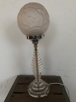 Original Art Deco lucite and glass table lamp