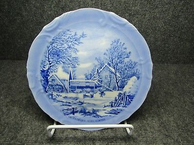 """Currier & Ives """"The Farmer's Home-Winter"""" 8 1/4"""" Collectors Plate {lotT}"""