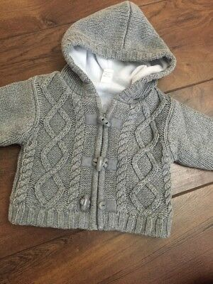 Next baby boy thick knitted jacket - 0-3 Months