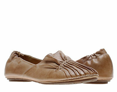 Chocolat Blu Cam2 Pleated Moccasin Flat Camel Women's Shoes