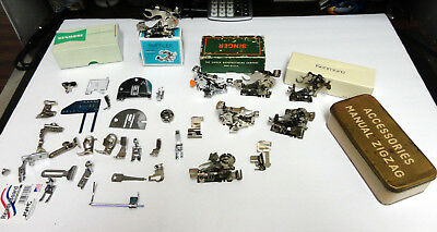 Large LOT OF VINTAGE SEWING MACHINE ATTACHMENTS PARTS SINGER GREIST KENMORE