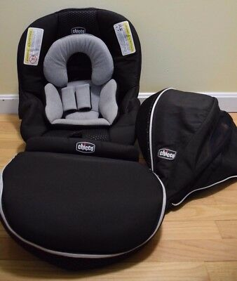 Chicco Keyfit Zip 30 22 Infant Car Seat Cover Replacement Canopy Chico Black