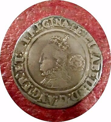 England ~ 1567 Queen Elizabeth Hammered Silver 6 Pence ~ Super Portrait & Strike