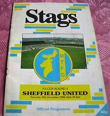 Mansfield Town  V  Sheffield United 1988-89 Fa Cup