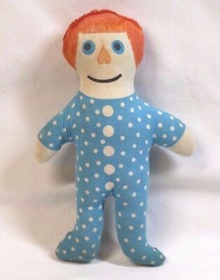 """Kimberly-Clark PATIENT PAT trademark Cloth 7"""" Cloth Doll Advertisement Promotion"""