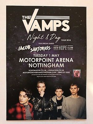 2x THE VAMPS promo FLYERS live night and day 2018 concert tour nottingham