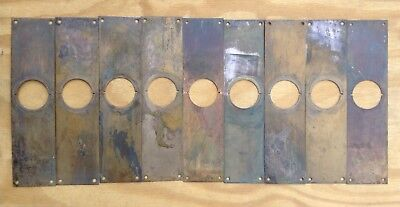 Vintage Brass Push Plates For Doors Lot of 9