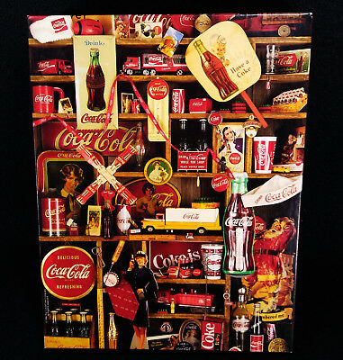 "Vintage 1986 Coca-Cola ""Coke Is It!"" Springbok 500 Pc Puzzle - Santa- Christmas"