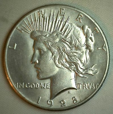1928 Silver Peace Liberty Dollar United States $1 Coin Graded Uncirculated MS