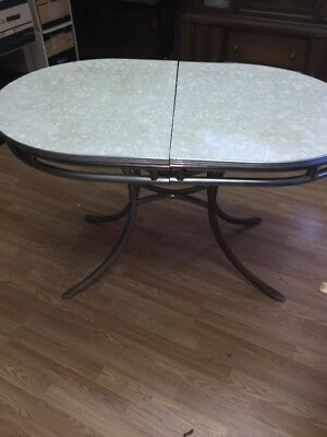 Vintage FORMICA & CHROME TABLE 1950s - Gray