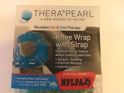 TheraPearl Reusable Hot & Cold Therapy- Knee Wrap with Strap NFLPA - Sports Wrap