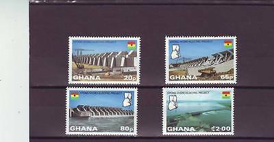 a109 - GHANA - SG996-999 MNH 1982 KPANG HYDRO-ELECTRIC PROJECT