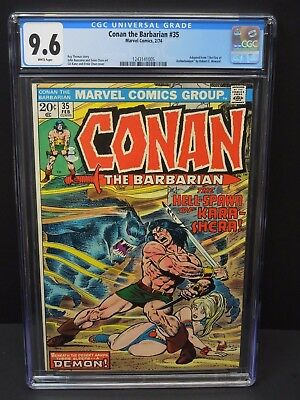 Marvel Conan The Barbarian #35 1974 Cgc 9.6 White Pages Fire Of Asshurbanipal