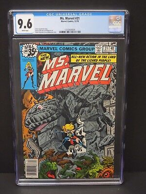 Marvel Comics Ms Marvel #21 1978 Cgc 9.6 White Pages Dave Cockrum Cover