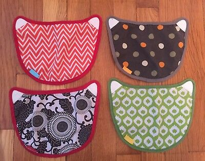 Infantino Wonder Covers (4) For Baby Carrier Velcro 2 in 1 Bibs 200-100 NWOT