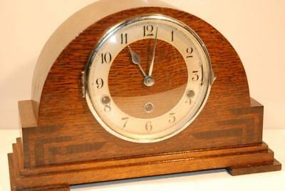 Stunning Art Deco Napoleon Hat Westminster Whittington Twin Chime Mantel Clock