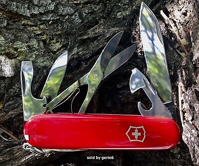 Swiss Army Knife With Leather Pouch, Red Climber, Victorinox 55381, New In Box
