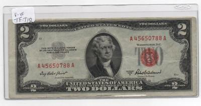 1953A $2.00 Circulated F-VF  United States Note    FR-1510        #TF-T12