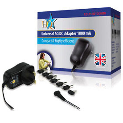 AC/DC Adapter 1000mA Output 3V, 4.5V, 5V, 6V, 9V, 12v HQ Replacement Universal