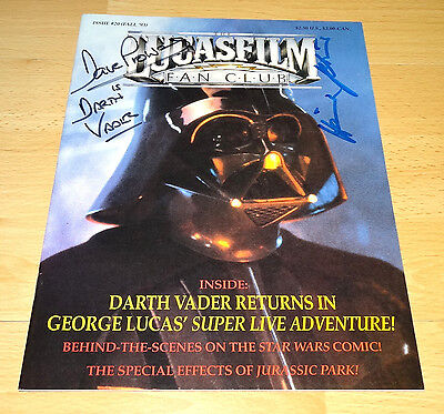 Star Wars Magazin mit Autogramme Dave Prowse + Heinz Petruo - Darth Vader - rare