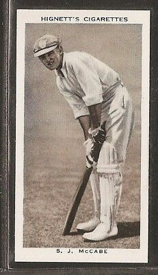 Hignett-Prominent Cricket Ers Of 1938-#44- New South Wales - S Mccabe