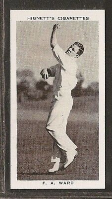 Hignett-Prominent Cricket Ers Of 1938-#49- South Australia - F Ward