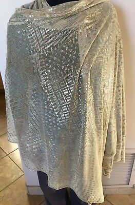 Vintage  Egyptian 1920 Art Deco Hammered Silver Assuit Shawl