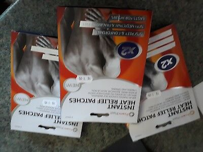 3 Packs Ofinstant Heat Relief Patches