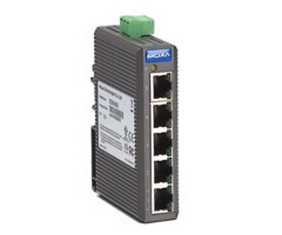 Moxa EDS-205 Rev. 2.1 Industrial Ethernet Unmanaged 5 Port Switch #hf65
