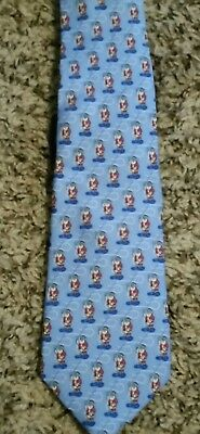 Vineyard Vines Boys Santa Fly Fishing   Silk Tie NWT