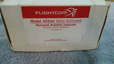 New FlightCom Model 403mc Aviation Intercom No RESERVE free shipping