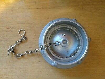 """4"""" Storz cap with chain - storz cap for fire truck fire hose or fire hydrant"""