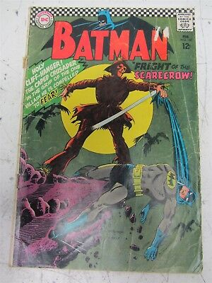 Batman Issue #189 Vintage DC Comic, First Appearance of Scarecrow