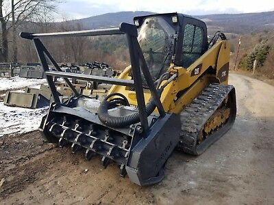 2011 Cat 277C Track Skid Steer Xps High Flow Fecon Mulching Head Ready To Work!