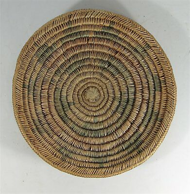 ca1930s NATIVE AMERICAN NAVAJO INDIAN DECORATED COIL BASKET / WEDDING BASKET