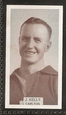 Wills Australian-Aussie Rules Footballers 1933-#109- Carlton - J Kelly