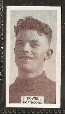 Wills Australian-Aussie Rules Footballers 1933-#114- Northcote - S Powell