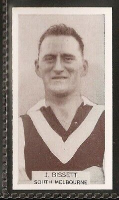 Wills Australian-Aussie Rules Footballers 1933-#123- South Melbourne - J Bissett
