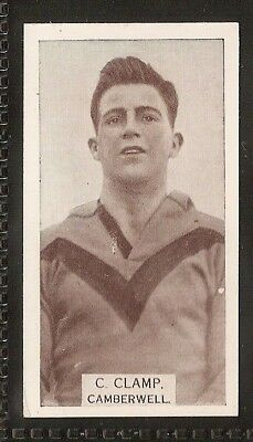 Wills Australian-Aussie Rules Footballers 1933-#196- Camberwell - C Clamp