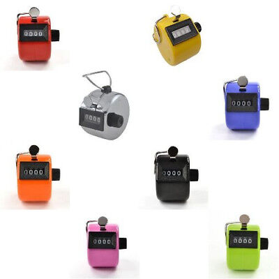 4 Digit Number Counter Mechanical Lap Tracker Manual Clicker For Sports Baseball