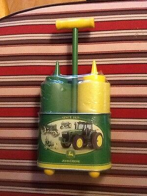 Deere Ketchup & Mustard Condiment Holder W/ Chrome Caddy John Deere