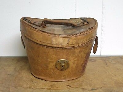 Antique Leather Hatbox Distressed Leather