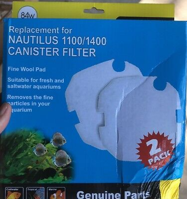Aqua One replacement For Nautilus 1100/1400 Wool Pad 84w 25084W