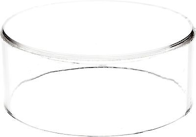 "Plymor Brand Clear Acrylic Round Cylinder Display Riser 2"" H x 5"" D 2"" x 5"" New"