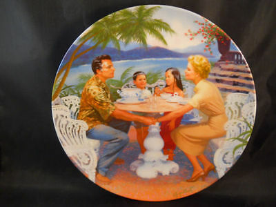 """KNOWLES SOUTH PACIFIC -PORCELAIN PLATE """"DITES-MOI"""" Certificate incl."""