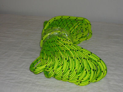 """Double Braid Polyester 5/8""""x75 feet arborist rigging tree bull rope lime green"""
