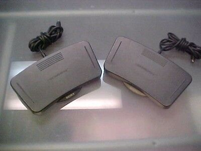 Lot Of 2 Sony Fs-80 Foot Control Pedal Units For M2000 M2020 Dictation Machine