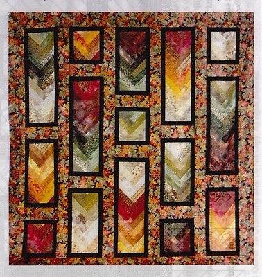 """Autumn Braid - pieced quilt PATTERN for 2.5"""" strips - Cozy Quilts - 2 sizes"""