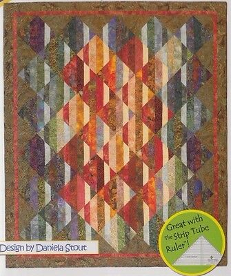 """Transitions - pieced quilt PATTERN for 2.5"""" strips - Cozy Quilts - 3 sizes"""
