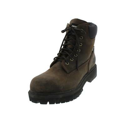 Timberland 6831 Mens Brown Leather Lace-Up Work Boots Shoes 10.5 Medium (D) BHFO